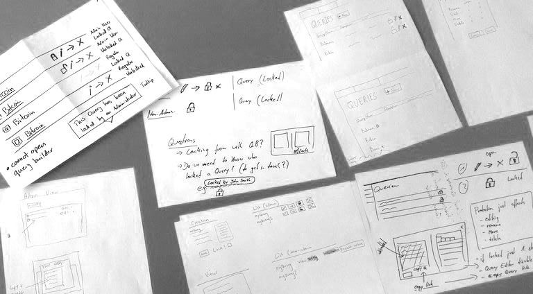 Sketches from the ideation session